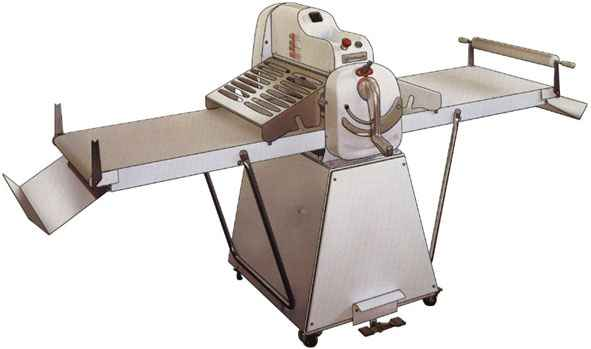 Тестораскаточная машина напольная марки SH500/09 Rollmatic (Италия) .